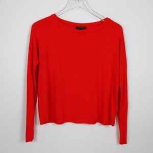 Topshop Red Long Sleeve T-Shirt US-Size 2